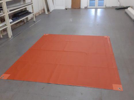 Napvitorla (278,4 x 231,5 cm) rozsdabarna